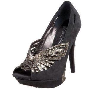 Sam Edelman Nixie Grey & Silver Snake Skin Heels