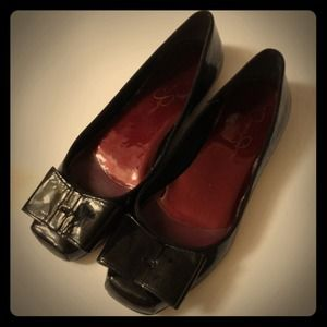 Jessica Simpson Shoes - Jessica Simpson Patent Bow Flats