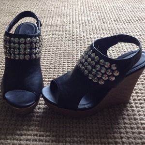 Charlotte Russe Shoes - REDUCED Studded Charlotte Russe wedges! NBW