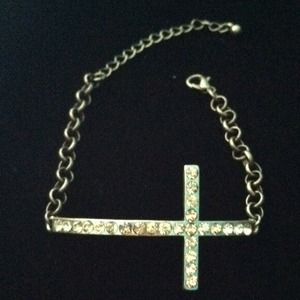 Jewelry - Crystal Cross Bracelet
