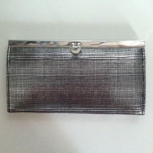 *REDUCED!* Pewter small clutch