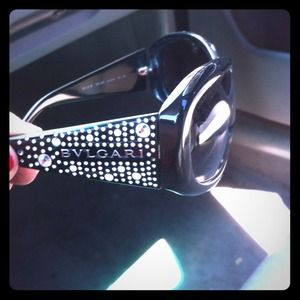 BVLGARI black sunglasses w/crystals