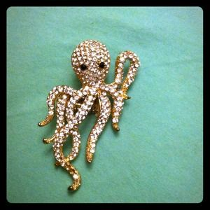 Accessories - Rhinestone Octopus Ring