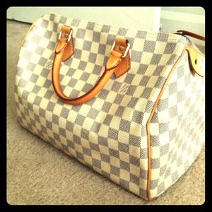 Louis Vuitton Handbags - SOLD - Louis Vuitton Azur Speedy 30