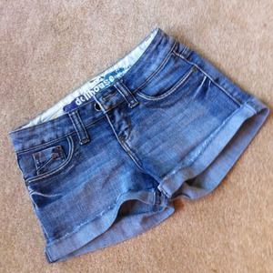 Dollhouse jean shorts