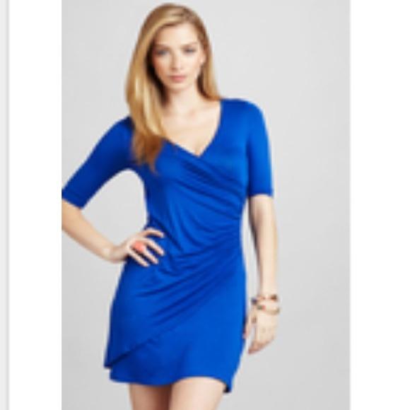 Patrizia Luca Dresses & Skirts - Patrizia Luca half sleeve v-neck dress in  blue