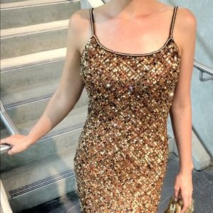 Adrianna Papell  Dresses - Gold Sequin Dress 3