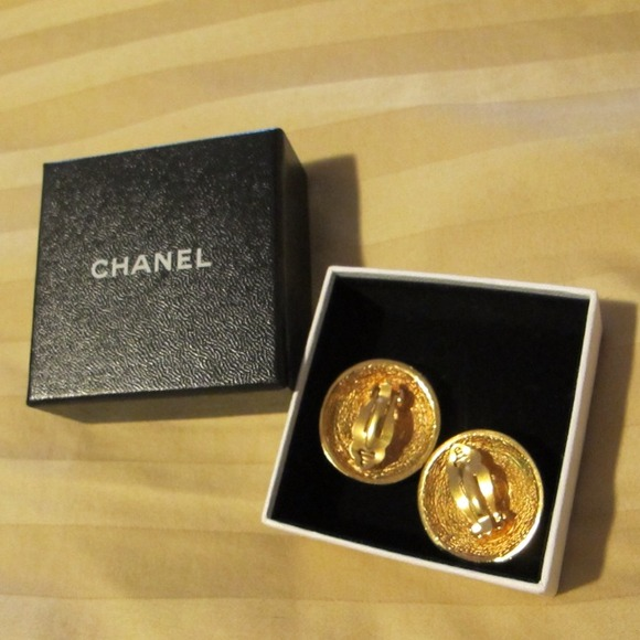 CHANEL Jewelry - Reduced Price!!!! Quilted Chanel Clip-On Earrings!