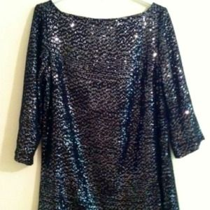 Tory Burch Dresses & Skirts - SOLD Tory Burch sequined 3/4 sleeve dress sz 12