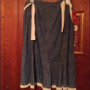 Dresses & Skirts - 💜Women's denim trumpet skirt