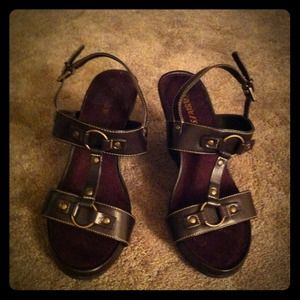 aerosoles Shoes - Aerosoles dark brown wedges size 8