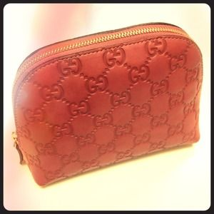 Gucci Accessories - Gucci Pink Guccissima Leather Cosmetic Bag
