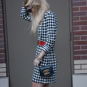 H&M Dresses & Skirts - Black and white houndstooth shift dress