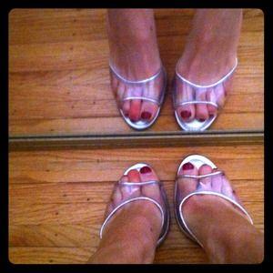Manolo Blahnik glass slippers.