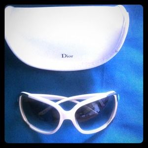 Dior Accessories - Cream w/ gold accent Dior glasses
