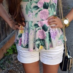 H&M Tops - Floral Peplum Top