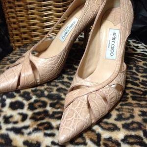 Jimmy Choo beautiful camel color shoes