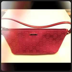 Gucci Handbags - Gucci Pink Monogram Canvas Small Handbag