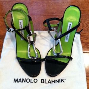 💚NEW💚Reduced $💚ManoloBlahnik Sandals, Black 6.5