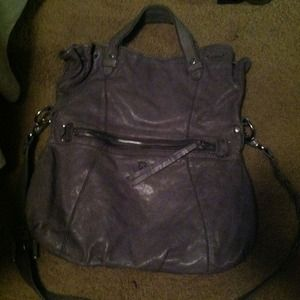 Gray leather lucky brand bag FINAL reduction!!