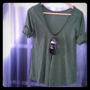 Tops - Green Cardigan Top