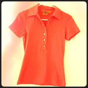 Tory Burch Tops - SOLD!!!Coral Tory Burch polo