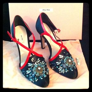 Prada Shoes - ✨SOLD✨NIB jeweled Miu Miu pumps