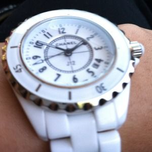 CHANEL Accessories - Chanel white ceramic women watch