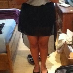 Dresses & Skirts - ❌Reserve❌Black Hi-Low Skirt !