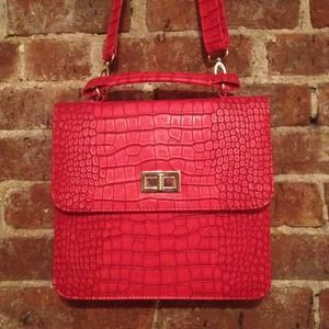 Unknown Handbags - SOLD - Embossed Faux-leather Handbag