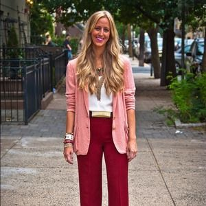 Zara Pants - Zara High waisted cranberry pants