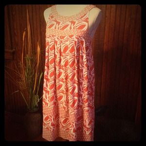 BCBG Dresses & Skirts - SOLD Adorable BCBG Orange Print Dress