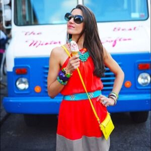 Color block summer dress