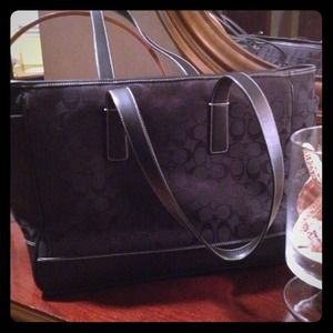 Authentic COACH diaper bag previously loved