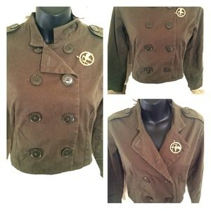 Jackets & Blazers - Olive Military Style Jacket