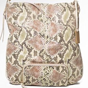 Remi & Emmy  Handbags - Snakeskin printed leather hobo from Remi & Emmy !