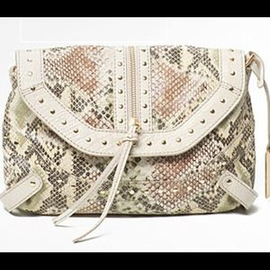 Remi & Emmy  Handbags - Leather snakeskin print convertible clutch
