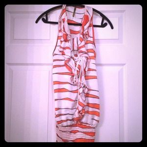 YoYo 5 Tops - REDUCED-NWOT! Orange, White and Dark Gray Top!