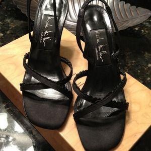 Nicole Miller Satin Sandals