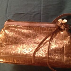 Victoria's Secret Clutches & Wallets - ⚡Reduced⚡Gold VS makeup bag