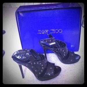 Jimmy choo size 7 black heels
