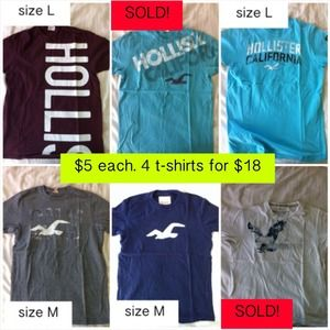 Hollister Tops - T-Shirt Bundle