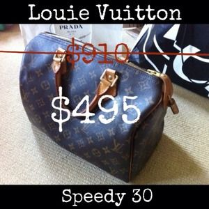 Louis Vuitton Handbags - Louis Vuitton Monogram Speedy 30