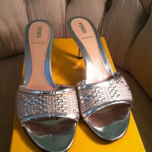 FENDI Shoes - Fendi silver sandals
