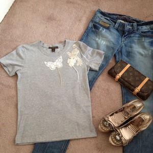 NWT Auth Louis Vuitton T-Shirt by Judy Blame