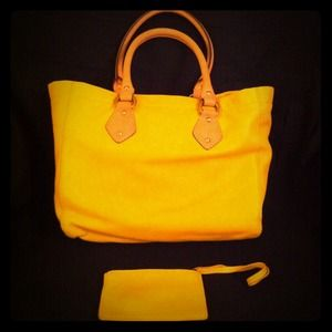 J. Crew Handbags - ***Reserved***Pre-loved JCREW yellow tote