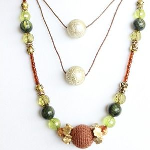 Earthy toned Statement necklace
