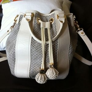 Tory Burch drawstring bucket bag with tassels