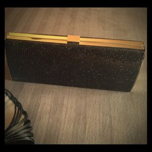 Handbags - REDUCED Black Sequin Clutch