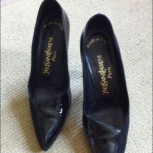 Yves Saint Laurent Shoes - Sold at STA - Suede/Patent Yves Saint Laurent